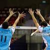 06.07.2011 - Gdansk , ERGO Arena , Siatkowka mezczyzn (Volleyball men's) , Finaly Ligi Swiatowej 2011 , FIVB World League Final 2011 ,  Argentyna (bialo-niebieskie) - Wlochy (granatowe) N/Z Sole , De Cecco  Fot. Mariusz Palczynski / MPAimages.com