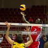 06.07.2011 - Gdansk , ERGO Arena , Siatkowka mezczyzn (Volleyball men's) , Finaly Ligi Swiatowej 2011 , FIVB World League Final 2011 ,  Brazylia (zolte - Kuba (czerwone) N/Z Rodrigao , Camejo Fot. Mariusz Palczynski / MPAimages.com