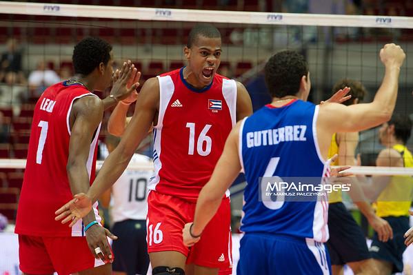 06.07.2011 - Gdansk , ERGO Arena , Siatkowka mezczyzn (Volleyball men's) , Finaly Ligi Swiatowej 2011 , FIVB World League Final 2011 ,  Brazylia (zolte) - Kuba (czerwone) N/Z Mesa Fot. Mariusz Palczynski / MPAimages.com