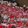 06.07.2011 - Gdansk , ERGO Arena , Siatkowka mezczyzn (Volleyball men's) , Finaly Ligi Swiatowej 2011 , FIVB World League Final 2011 ,  Polska (biale) - Bulgaria (czerwone) N/Z Kibice Fot. Mariusz Palczynski / MPAimages.com