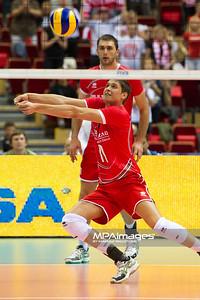 06.07.2011 - Gdansk , ERGO Arena , Siatkowka mezczyzn (Volleyball men's) , Finaly Ligi Swiatowej 2011 , FIVB World League Final 2011 ,  Polska (biale) - Bulgaria (czerwone) N/Z Vladimir Nikolov Fot. Mariusz Palczynski / MPAimages.com