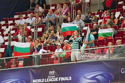 07.07.2011 - Gdansk , ERGO Arena , Siatkowka mezczyzn (Volleyball men's) , Finaly Ligi Swiatowej 2011 , FIVB World League Final 2011 ,  Bulgaria (biale) - Argentyna (niebieskie)  N/Z Kibice Bulgarii Fot. Mariusz Palczynski / MPAimages.com