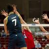 07.07.2011 - Gdansk , ERGO Arena , Siatkowka mezczyzn (Volleyball men's) , Finaly Ligi Swiatowej 2011 , FIVB World League Final 2011 ,  USA (czerwone) - Brazylia (granatowe)  N/Z Giba , David Lee , William Priddy Fot. Mariusz Palczynski / MPAimages.com