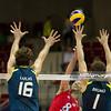 07.07.2011 - Gdansk , ERGO Arena , Siatkowka mezczyzn (Volleyball men's) , Finaly Ligi Swiatowej 2011 , FIVB World League Final 2011 ,  USA (czerwone) - Brazylia (granatowe)  N/Z Lucas , William Priddy , Bruno Rezende Fot. Mariusz Palczynski / MPAimages.com