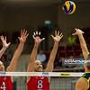 07.07.2011 - Gdansk , ERGO Arena , Siatkowka mezczyzn (Volleyball men's) , Finaly Ligi Swiatowej 2011 , FIVB World League Final 2011 ,  USA (czerwone) - Brazylia (granatowe)  N/Z David Lee , William Priddy , Murilo Fot. Mariusz Palczynski / MPAimages.com
