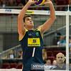 07.07.2011 - Gdansk , ERGO Arena , Siatkowka mezczyzn (Volleyball men's) , Finaly Ligi Swiatowej 2011 , FIVB World League Final 2011 ,  USA (czerwone) - Brazylia (granatowe)  N/Z Bruno Rezende Fot. Mariusz Palczynski / MPAimages.com