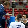 07.07.2011 - Gdansk , ERGO Arena , Siatkowka mezczyzn (Volleyball men's) , Finaly Ligi Swiatowej 2011 , FIVB World League Final 2011 ,  Wlochy (biale) - Bulgaria (czarne)  N/Z Cristian Savani  Fot. Mariusz Palczynski / MPAimages.com