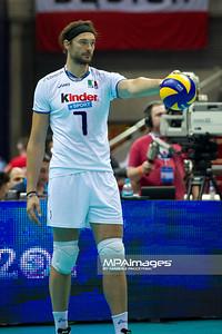 07.07.2011 - Gdansk , ERGO Arena , Siatkowka mezczyzn (Volleyball men's) , Finaly Ligi Swiatowej 2011 , FIVB World League Final 2011 ,  Wlochy (biale) - Bulgaria (czarne)  N/Z Michal Lasko Fot. Mariusz Palczynski / MPAimages.com