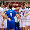 07.07.2011 - Gdansk , ERGO Arena , Siatkowka mezczyzn (Volleyball men's) , Finaly Ligi Swiatowej 2011 , FIVB World League Final 2011 ,  Wlochy (biale) - Bulgaria (czarne)  N/Z Siatkarze Wloch Fot. Mariusz Palczynski / MPAimages.com
