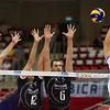 07.07.2011 - Gdansk , ERGO Arena , Siatkowka mezczyzn (Volleyball men's) , Finaly Ligi Swiatowej 2011 , FIVB World League Final 2011 ,  Wlochy (biale) - Bulgaria (czarne)  N/Z Andrey Zhekov , Viktor Yosifov , Matey Kaziyski Fot. Mariusz Palczynski / MPAimages.com