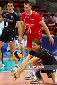 07.07.2011 - Gdansk , ERGO Arena , Siatkowka mezczyzn (Volleyball men's) , Finaly Ligi Swiatowej 2011 , FIVB World League Final 2011 ,  Wlochy (biale) - Bulgaria (czarne)  N/Z  Fot. Mariusz Palczynski / MPAimages.com