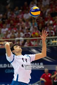 08.07.2011 - Gdansk , ERGO Arena , Siatkowka mezczyzn (Volleyball men's) , Finaly Ligi Swiatowej 2011 , FIVB World League Final 2011 ,  Polska (granatowe) - Argentyna (biale)  N/Z Sebastian Sole Fot. Mariusz Palczynski / MPAimages.com
