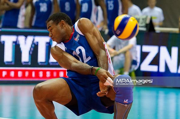 08.07.2011 - Gdansk , ERGO Arena , Siatkowka mezczyzn (Volleyball men's) , Finaly Ligi Swiatowej 2011 , FIVB World League Final 2011 ,  USA (biale) - Kuba (granatowe)  N/Z Bell Fot. Mariusz Palczynski / MPAimages.com