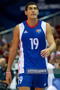 08.07.2011 - Gdansk , ERGO Arena , Siatkowka mezczyzn (Volleyball men's) , Finaly Ligi Swiatowej 2011 , FIVB World League Final 2011 ,  USA (biale) - Kuba (granatowe)  N/Z Hernandez Fot. Mariusz Palczynski / MPAimages.com