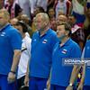 10.07.2011 - Gdansk , ERGO Arena , Siatkowka mezczyzn (Volleyball men's) , Finaly Ligi Swiatowej 2011 , FIVB World League Final 2011 ,  Final Brazylia (zolte) - Rosja (czerwone)  N/Z Sztab szkoleniowy Rosji Fot. Mariusz Palczynski / MPAimages.com