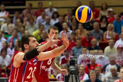 10.07.2011 - Gdansk , ERGO Arena , Siatkowka mezczyzn (Volleyball men's) , Finaly Ligi Swiatowej 2011 , FIVB World League Final 2011 ,  Final Brazylia (zolte) - Rosja (czerwone)  N/Z Hachatur Stepanyan Fot. Mariusz Palczynski / MPAimages.com