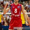 10.07.2011 - Gdansk , ERGO Arena , Siatkowka mezczyzn (Volleyball men's) , Finaly Ligi Swiatowej 2011 , FIVB World League Final 2011 ,  Final Brazylia (zolte) - Rosja (czerwone)  N/Z Denis Biriukov Fot. Mariusz Palczynski / MPAimages.com