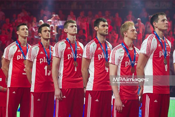10.07.2011 - Gdansk , ERGO Arena , Siatkowka mezczyzn (Volleyball men's) , Finaly Ligi Swiatowej 2011 , FIVB World League Final 2011 ,  Dekoracja N/Z Polacy Fot. Mariusz Palczynski / MPAimages.com