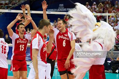 10.07.2011 - Gdansk , ERGO Arena , Siatkowka mezczyzn (Volleyball men's) , Finaly Ligi Swiatowej 2011 , FIVB World League Final 2011 , Argentyna (niebieskie) - Polska (czerwone) N/Z Radosc Polakow Fot. Mariusz Palczynski / MPAimages.com