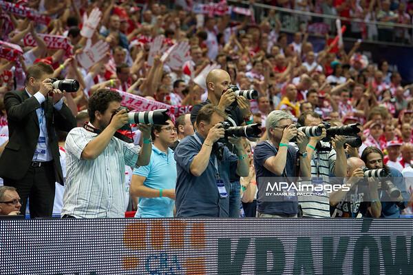 10.07.2011 - Gdansk , ERGO Arena , Siatkowka mezczyzn (Volleyball men's) , Finaly Ligi Swiatowej 2011 , FIVB World League Final 2011 , Argentyna (niebieskie) - Polska (czerwone) N/Z Fotoreporterzy Fot. Mariusz Palczynski / MPAimages.com