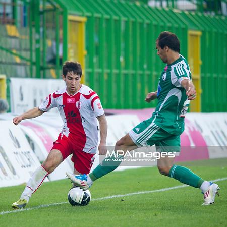 29.08.2011 - Belchatow , pilka nozna , T-Mobile Ekstraklasa , LKS Lodz (bialo-czerwone) - Legia Warszawa (zielone)  N/Z  Agwan Papikyan  Fot. Mariusz Palczynski / MPAimages.com
