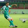 29.08.2011 - Belchatow , pilka nozna , T-Mobile Ekstraklasa , LKS Lodz (bialo-czerwone) - Legia Warszawa (zielone)  N/Z  Moshe Ohayon  Fot. Mariusz Palczynski / MPAimages.com