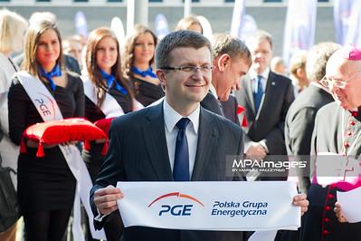 28.09.2011 - Belchatow , Otwarcie nowego bloku 858 MW PGE GiEK SA Oddzial Elektrownia Belchatow N/Z Prezes PGE Tomasz Zadroga  Fot. Mariusz Palczynski / MPAimages.com