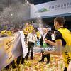 22.01.2012 - Rzeszow , Hala Podpromie , siatkowka ,  Puchar Polski Enea Cup 2012 , Dekoracja  N/Z Siatkarze PGE Skry Fot. Mariusz Palczynski / MPAimages.com