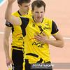 17.04.2012 - Belchatow , siatkowka ,  Plus Liga Final , PGE SKRA Belchatow (zolte) - Resovia Rzeszow (czarne)  N/Z Bartosz Kurek   Fot. Mariusz Palczynski / MPAimages.com