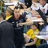 17.04.2012 - Belchatow , siatkowka ,  Plus Liga Final , PGE SKRA Belchatow (zolte) - Resovia Rzeszow (czarne)  N/Z Georg Grozer   Fot. Mariusz Palczynski / MPAimages.com