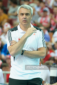 02.06.2012 - Katowice , Spodek , siatkowka , World League 2012 , Polska (czerwone) - Finlandia (niebieskie)  N/Z Andrea Anastasi  Fot. Mariusz Palczynski / MPAimages.com