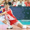 02.06.2012 - Katowice , Spodek , siatkowka , World League 2012 , Polska (czerwone) - Finlandia (niebieskie)  N/Z Krzysztof Ignaczak  Fot. Mariusz Palczynski / MPAimages.com