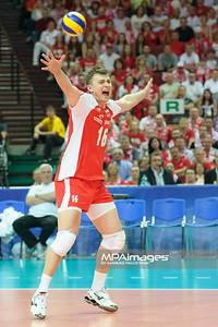 03.06.2012 - Katowice , Spodek , siatkowka , World League 2012 , Polska (biale) - Brazylia (zolte)  N/Z Krzysztof Ignaczak  Fot. Mariusz Palczynski / MPAimages.com