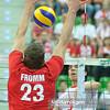 22.07.2012 - Zielona Gora , siatkowka , Memorial Huberta Wagnera 2012 , Niemcy (czerwone) - Iran (biale)  N/Z Christian Fromm , Fahrad Ghaemi  Fot. Mariusz Palczynski / MPAimages.com