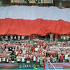 22.07.2012 - Zielona Gora , siatkowka , Memorial Huberta Wagnera 2012 , Polska (biale) - Argentyna (niebieskie)  N/Z Kibice  Fot. Mariusz Palczynski / MPAimages.com