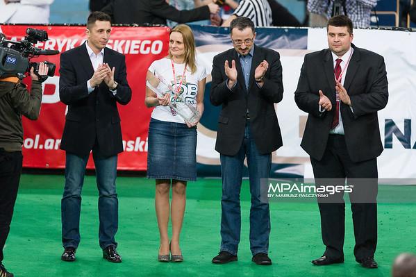 02.02.2013 - Lodz, Atlas Arena , futbol amerykanski ,  Polska (czerwone) - Szwecja (zolte) N/Z Dekoracja  Fot. Mariusz Palczynski / MPAimages.com