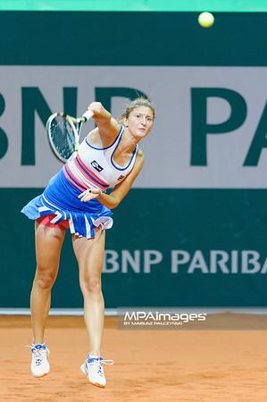 09.04.2013 - Katowice , Spodek , tenis ,  BNP Paribas Katowice Open , Irina Camelia Begu - Mathilde Johansson  N/Z Irina Camelia Begu   Fot. Mariusz Palczynski / MPAimages.com
