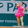 09.04.2013 - Katowice , Spodek , tenis ,  BNP Paribas Katowice Open , Vesna Dolonc - Mandy Minella  N/Z Vesna Dolonc   Fot. Mariusz Palczynski / MPAimages.com