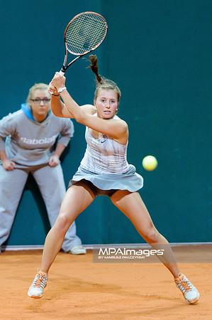 10.04.2013 - Katowice , Spodek , tenis ,  BNP Paribas Katowice Open , Lourdes Dominguez Lino - Annika Beck N/Z Annika Beck  Fot. Mariusz Palczynski / MPAimages.com