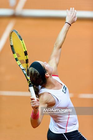10.04.2013 - Katowice , Spodek , tenis ,  BNP Paribas Katowice Open , Lourdes Dominguez Lino - Annika Beck N/Z Lourdes Dominguez Lino  Fot. Mariusz Palczynski / MPAimages.com