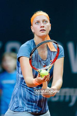 10.04.2013 - Katowice , Spodek , tenis ,  BNP Paribas Katowice Open , Petra Kvitova - Misaki Doi N/Z Petra Kvitova  Fot. Mariusz Palczynski / MPAimages.com