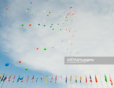 09.06.2013 Myslowice , Slupna , siatkowka plazowa , Mistrzostwa Swiata U23 , Dekoracja N/Z Balony Fot. Karol Bartnik / MPAimages.com