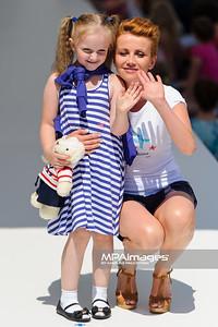 """23.06.2013 - Warszawa , Warsaw Fashion Street 2013 , Akcja """"Spełnionych Marzeń"""" na Fashion Children Show  N/Z Katarzyna Zielinska  Fot. Mariusz Palczynski / MPAimages.com"""
