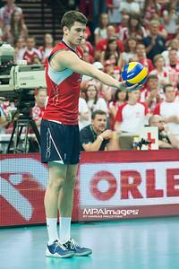 05.07.2013 Katowice , siatkowka , Liga Swiatowa , Polska (biale) - USA (czerwone) N/Z Matthew Anderson Fot. Karol Bartnik / MPAimages.com