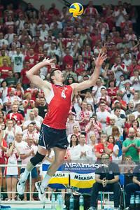 05.07.2013 Katowice , siatkowka , Liga Swiatowa , Polska (biale) - USA (czerwone) N/Z David Lee Fot. Karol Bartnik / MPAimages.com