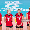 11.08.2013 - Plock , Orlen Arena , siatkowka kobiet , grupa H , FIVB World Grand Prix 2013 , women's volleyball , poll H , mecz Kazachstan (biale) - Niemcy (czerwone) , game Kazakhstan (white) - Germany (red)   N/Z Maren Brinker , Jennifer Geerties , Corina Ssuschke - Voigt , Anja Brandt  Fot. Mariusz Palczynski / MPAimages.com