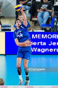 08.09.2013 - Plock , Orlen Arena , siatkowka , Memorial Huberta Wagnera 2013 , Holandia (niebieskie) - Niemcy (czerwone)  N/Z Niels Klapwijk  Fot. Mariusz Palczynski / MPAimages.com