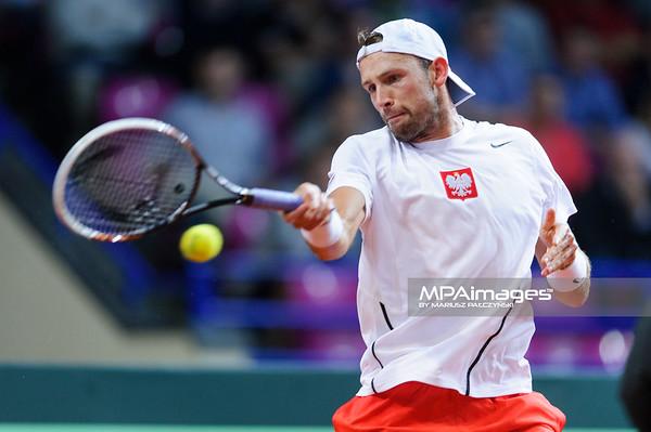 13.09.2013 - Warszawa , Torwar , tenis , Davis Cup Plau Off , Polska (biale) - Australia (zolte)  N/Z Lukasz Kubot  Fot. Mariusz Palczynski / MPAimages.com