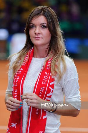 13.09.2013 - Warszawa , Torwar , tenis , Davis Cup Plau Off , Polska (biale) - Australia (zolte)  N/Z Agnieszka Radwanska  Fot. Mariusz Palczynski / MPAimages.com