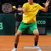 13.09.2013 - Warszawa , Torwar , tenis , Davis Cup Plau Off , Polska (biale) - Australia (zolte)  N/Z Bernard Tomic  Fot. Mariusz Palczynski / MPAimages.com